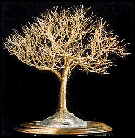 Obra De Arte >> Sal Villano Wire Tree Sculpture >> de oro olmo ...