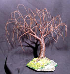 Sal Villano Wire Tree Sculpture - RUSTED SAUCE - Escultura Mini árbol de alambre
