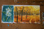 Valery Rybakow - plenair-painting Otoño PARQUE 215 . Oil on canvas . 25x38cm . 2010