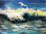 Inspirational Paintings - Surfing Gull