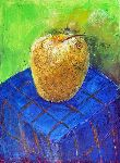 Ahmedov Zakir - Apple2014year15x11in  Arte original  pintura  aceite  en  lienzo  1500$