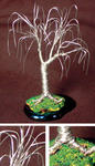 Sal Villano Wire Tree Sculpture - ROBLE BONSAI - Escultura Mini árbol de alambre