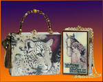 Cigar Box Purses - leopardo y caballo
