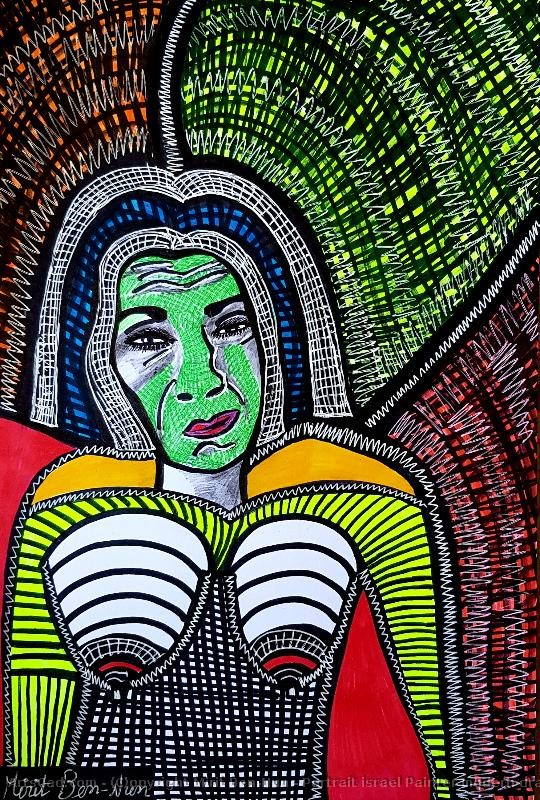 Obra De Arte >> Mirit Ben-Nun >> Portrait israel Painter modern drawings for sale by Mirit Ben-Nun