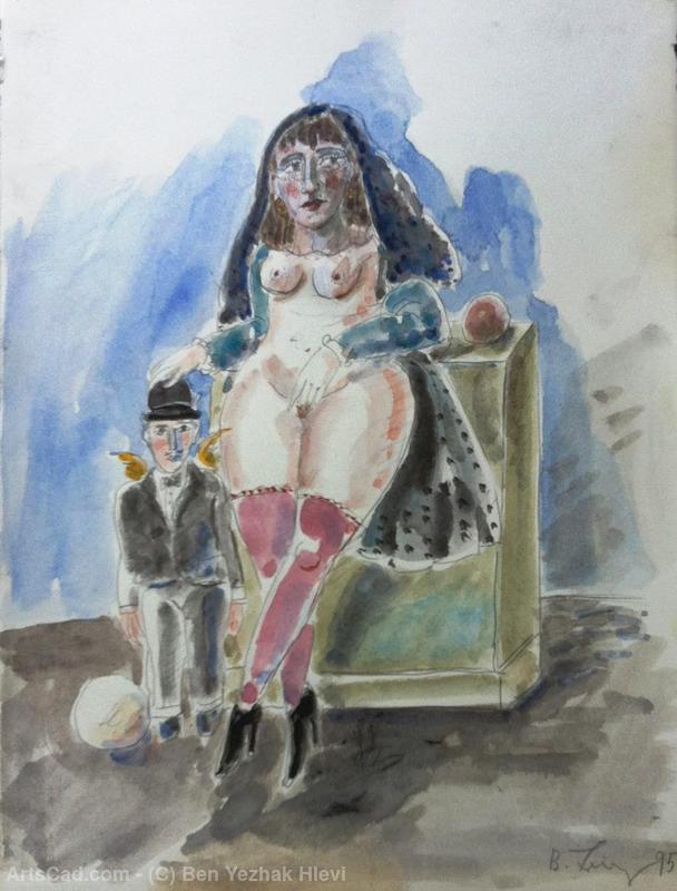 Obra De Arte >> Ben Yezhak Hlevi >> Erótica Mujer Arte Pintura ...
