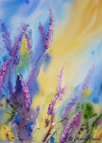 Obra De Arte >> Chantal Jodin >> colores lavanda